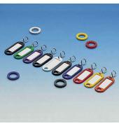 20 Schlüsselanhänger + 10 Kennringe farbig sortiert