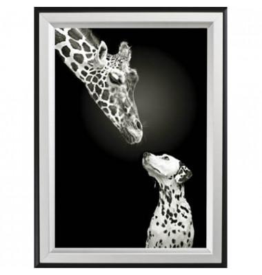Plakat-Klapprahmen Double Colour schwarz/silber A2 mit Antireflexfolie