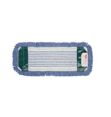Flachmoppbezug Step antimikrobiell blau 41 x 14 cm mit Taschen