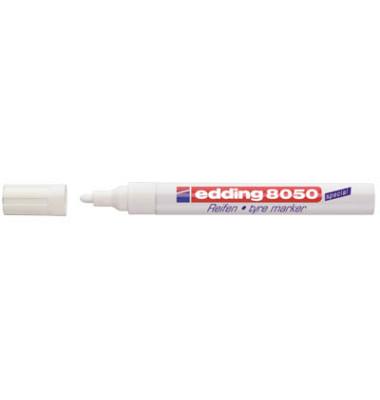 Reifenmarker 8050 weiß 2-4 mm Rundspitze