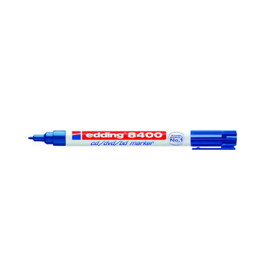 CD/DVD/BlueRay-Marker 8400 blau 0,5-1mm Rundspitze