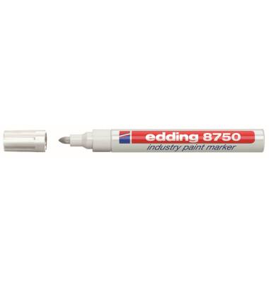 Lackmarker 8750 Industrie weiß 2-4mm Rundspitze