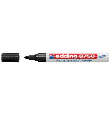 Lackmarker 8750 Industrie schwarz 2-4mm Rundspitze