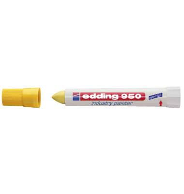 Industriemarker 950 gelb 10mm Rundspitze
