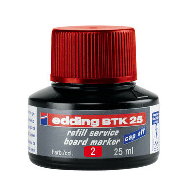 Nachfülltusche BTK 25 für Bordmarker rot 25 ml