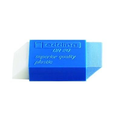 Radiergummi DR20 weiß/blau 46x19,5x11,5mm