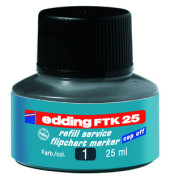 Nachfüllfarbe FTK25 für Flipchartmarker schwarz 25 ml