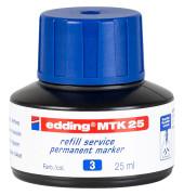 Nachfüllfarbe MTK25 Permanentmarker blau 25 ml