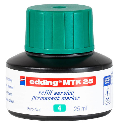 Nachfüllfarbe MTK25 grün Permanentmarker 25 ml