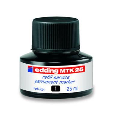 Nachfüllfarbe MTK25 Permanentmarker schwarz 25 ml