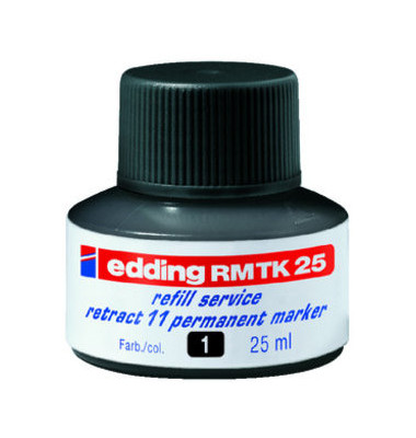 Nachfüllfarbe MTK25 Permanentmarker schwarz 25ml