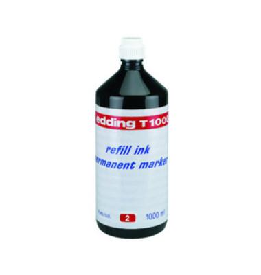 Nachfüllfarbe T1000 für Permanentmarker rot 1 Liter