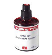 Nachfüllfarbe T100 für Permanentmarker rot 100 ml