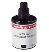 Nachfüllfarbe T100 für Permanentmarker schwarz 100 ml