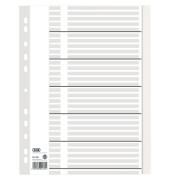 Kartonregister 400011408 blanko A4 100g weiße Taben 31-teilig