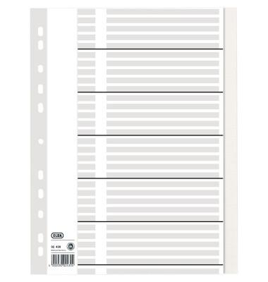 Kartonregister 02430 blanko A4 100g weiß Taben 31-teilig