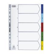 Kunststoffregister 400013947 1-5 A4 0,12mm farbige Taben 5-teilig