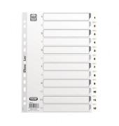 Kunststoffregister 400013903 1-12 A4 0,15mm weiße Taben 12-teilig