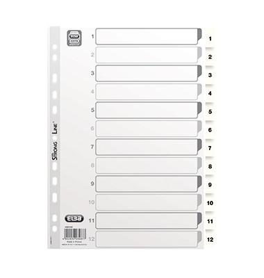 Register 03487 1-12 A4 0,15mm weiße Taben 12-teilig