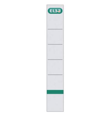 Rückenschilder 04264 30 x 190 mm weiß zum einstecken 10 Stück