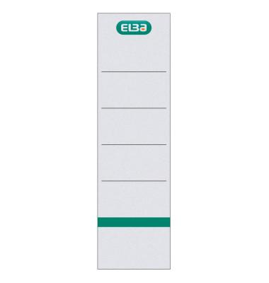 Rückenschilder 04268 54 x 190 mm weiß zum einstecken 10 Stück