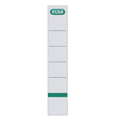 Rückenschilder 04405 34 x 190 mm weiß 10 Stück zum aufkleben