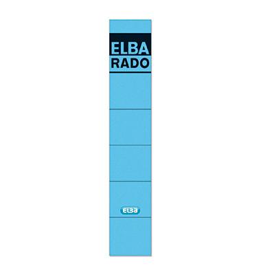 Rückenschilder 04614 34 x 190 mm blau 10 Stück zum aufkleben