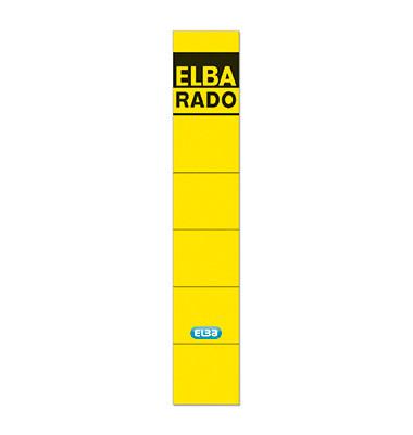 Rückenschilder 04614GB 34 x 190 mm gelb 10 Stück zum aufkleben