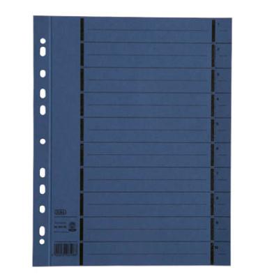 Trennblätter 06456 A4 blau perforiert 250g Karton 100 Blatt Recycling