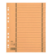 Trennblätter 06456 A4 gelb perforiert 250g Karton 100 Blatt Recycling