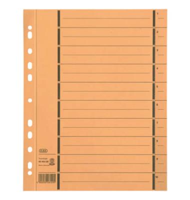 Trennblätter 06456 A4 gelb 250g Karton 100 Blatt Recycling