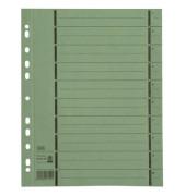 Trennblätter 06456 A4 grün perforiert 250g Karton 100 Blatt Recycling
