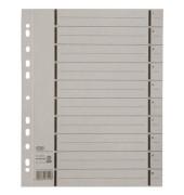 Trennblätter 06456 A4 grau perforiert 250g Karton 100 Blatt Recycling