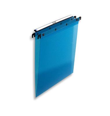 Hängemappe A4 aus Folie mit Druckknopf blau 100330382