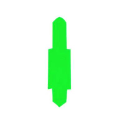 Stecksignale für Einstellmappen dunkelgrün 55x15mm 100 Stück