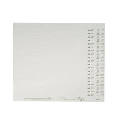 Organisationsstreifen vertic 1 weiß blanko 10 Bogen
