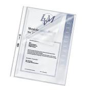 Prospekthüllen A4 transparent genarbt 120my oben und links offen 100 Stück