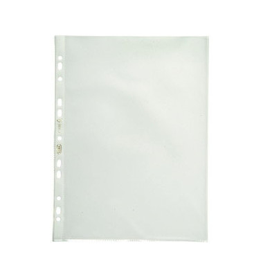 Prospekthüllen Premium A4 transparent genarbt 120my oben offen 100 Stück