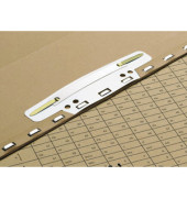 Einsteckheftstreifen PVC Vertic grau 37x150mm 100 St