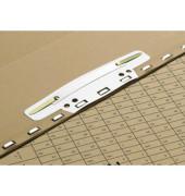 Einsteckheftstreifen Vertic 100551905, 37x150mm, einsteckbar, Kunststoff mit Metalldeckleiste, weiß, 100 Stück