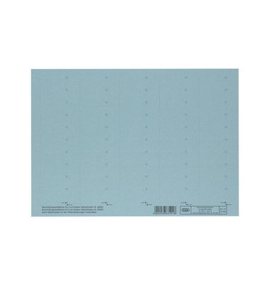 Beschriftungsschilder 83582 4zeilig blau 58mm breit