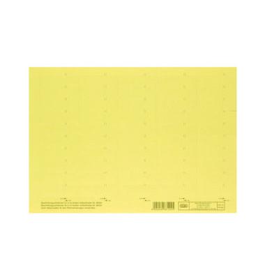 Beschriftungsschilder 83582 4-zlg. gelb 58mm breit