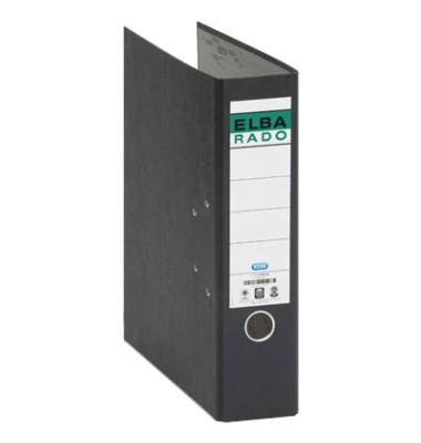 Ordner rado 10407 A4 80mm Wolkenmarmor farbiger Rücken schwarz