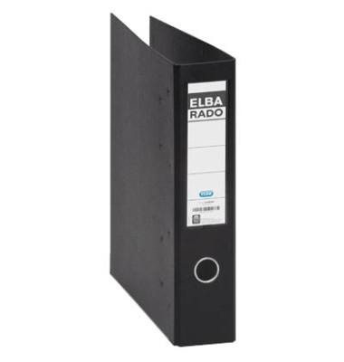 Doppelordner rado plast 2x A5-quer schwarz 75mm 2x 2-Ringmechanik PVC