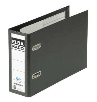 Ordner Rado 10596 Plastik A5 quer schwarz 75mm