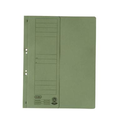 Ösenhefter A4 grün halber Vorderdeckel Amtsheftung