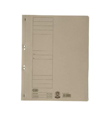 Ösenhefter A4 grau ganzer Vorderdeckel kaufmännische Heftung / Amtsheftung