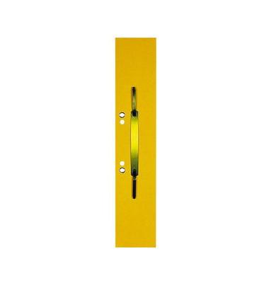 Heftstreifen lang 100091150, 60x305mm, extra lang, geöst, RC-Karton mit Metalldeckleiste, gelb, 50 Stück
