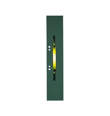 Heftstreifen lang 100091151, 60x305mm, extra lang, geöst, RC-Karton mit Metalldeckleiste, grün, 50 Stück
