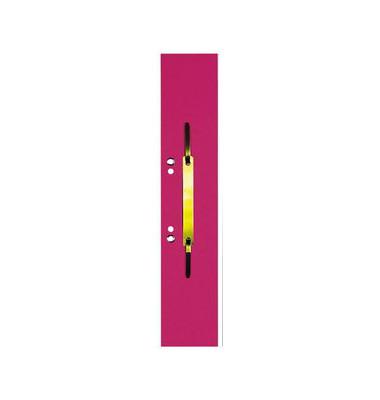 Heftstreifen lang 100091153, 60x305mm, extra lang, geöst, RC-Karton mit Metalldeckleiste, rot, 50 Stück